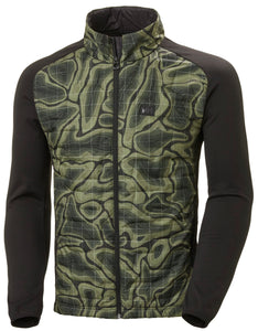 Helly Hansen Men's Lifaloft Hybrid Insulator Jacket in Beluga Nmm Print from the front