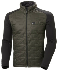 Helly Hansen Men's Lifaloft Hybrid Insulator Jacket in Beluga from the front