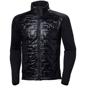 Helly Hansen Men's Lifaloft Hybrid Insulator Jacket in Black from the front