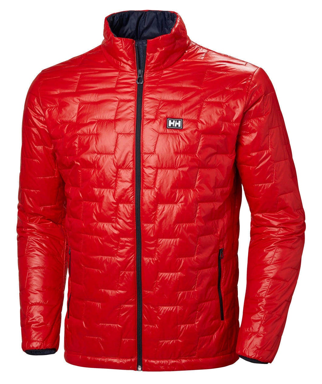Helly Hansen Men's Lifaloft Insulator Jacket in Alert Red from the front