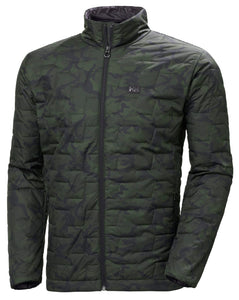 Helly Hansen Men's Lifaloft Insulator Jacket in Forest Night Camo from the front