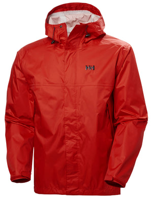 Helly Hansen Men's Loke Rain Jacket in Alert Red from the front