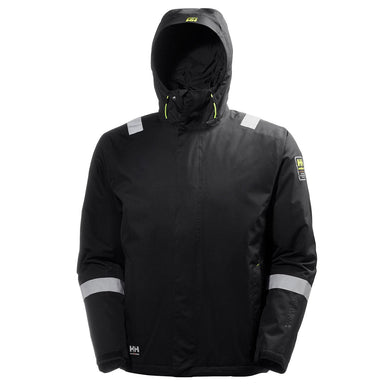 Helly Hansen Men's Manchester Aker Insulated Winter Jacket in Black from the front