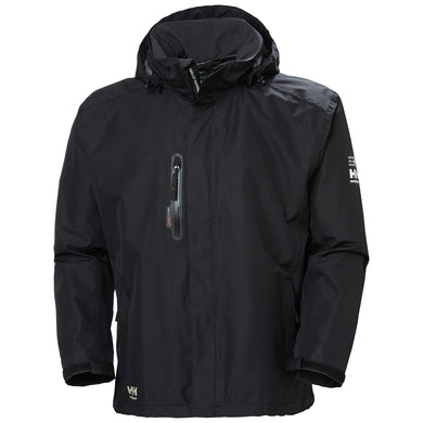 Helly Hansen Men's Manchester Haag Shell Jacket in Black from the front