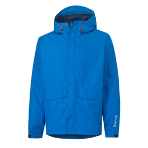 Helly Hansen Men's Manchester Waterloo Rain Jacket in Racer Blue from the front