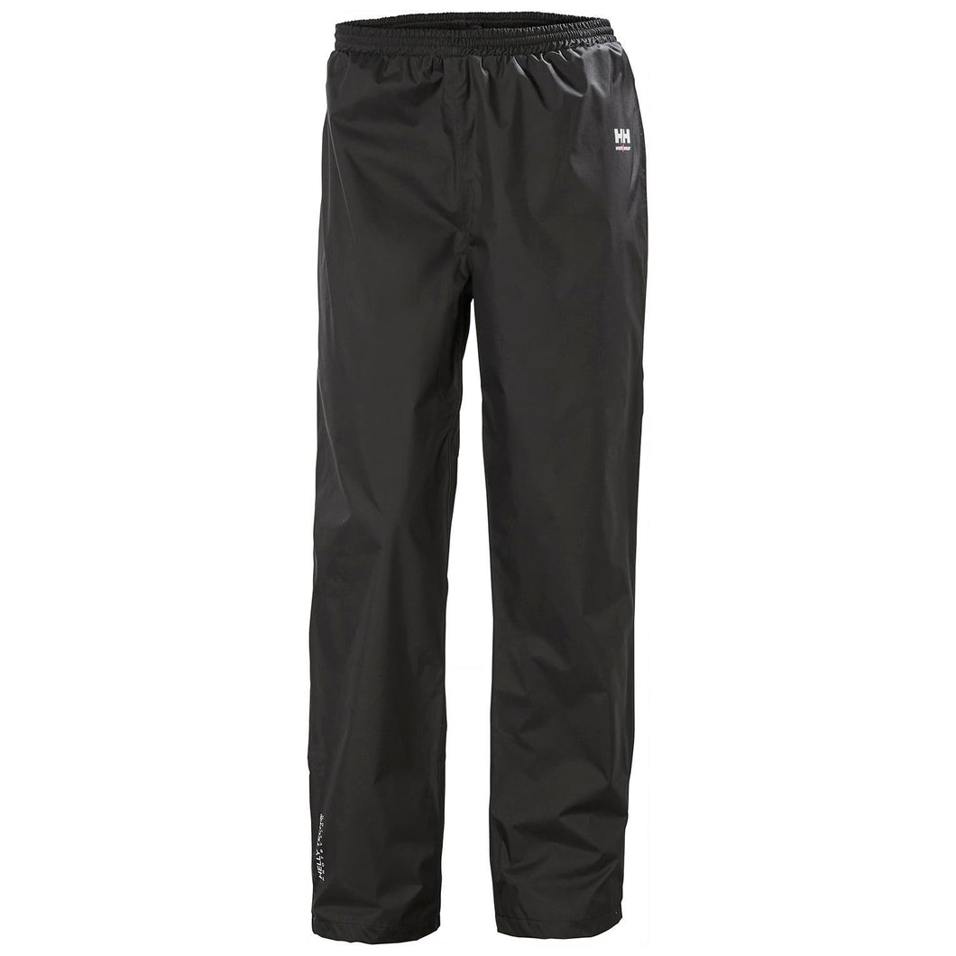 Helly Hansen Men's Manchester Waterloo Rain Pant in Black from the front