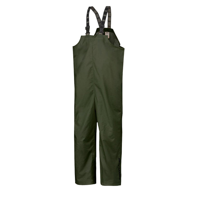 Helly Hansen Men's Mandal Rain Bib in Army Green from the front