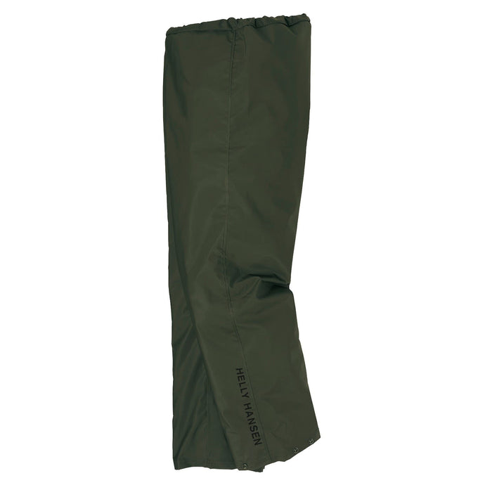 Helly Hansen Men's Mandal Rain Pant in Army Green from the side