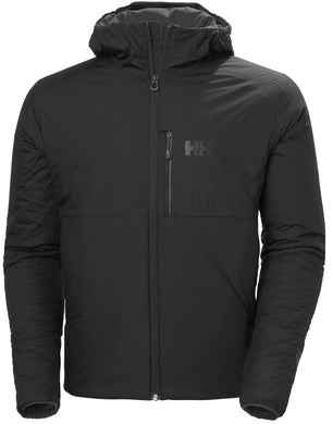 Helly Hansen Men's Odin Stretch Hooded Insulated Jacket in Black from the front