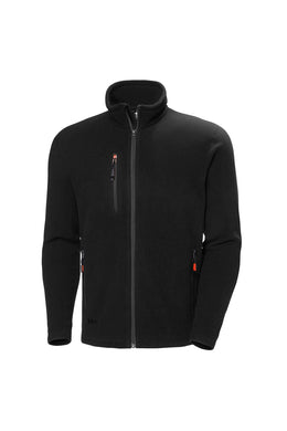 Helly Hansen Men's Oxford Fleece Jacket in Black from the front