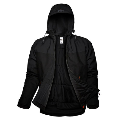 Helly Hansen Men's Oxford Winter Jacket in Black from the front