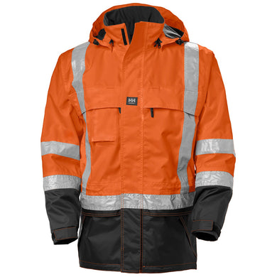 Helly Hansen Men's Potsdam Oxford Polyester ANSI Jacket in Orange from the front