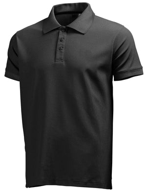 Helly Hansen Men's Riftline Polo in Black from the front