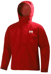 Helly Hansen Men's Seven J Rain Jacket in Alert Red from the front
