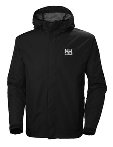 Helly Hansen Men's Seven J Rain Jacket in Black from the front