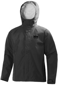Helly Hansen Men's Seven J Rain Jacket in Ebony from the front