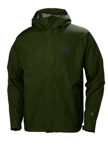 Helly Hansen Men's Seven J Rain Jacket in Forest Night from the front