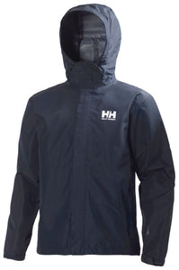Helly Hansen Men's Seven J Rain Jacket in Navy from the front