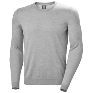 Helly Hansen Men's Skagen Merino Sweater in Grey Melange from the front