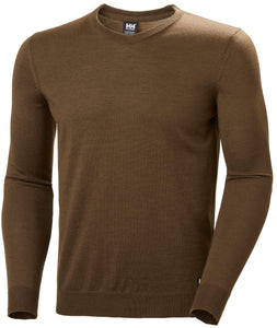 Helly Hansen Men's Skagen Merino Sweater in Kodiak Brown from the front