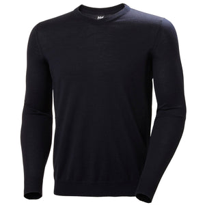 Helly Hansen Men's Skagen Merino Sweater in Navy from the front