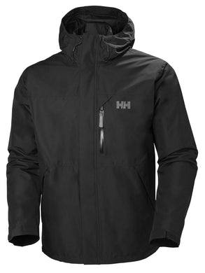 Helly Hansen Men's Squamish CIS Rain Jacket in Black from the front