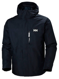 Helly Hansen Men's Squamish CIS Rain Jacket in Navy from the front
