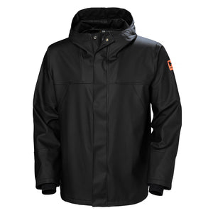 Helly Hansen Men's Storm Rain Jacket in Black from the front