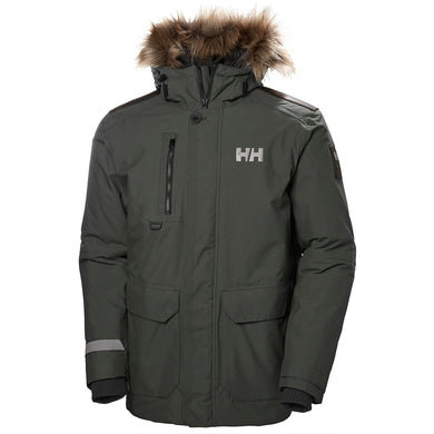 Helly Hansen Men's Svalbard Parka Jacket in Beluga from the front