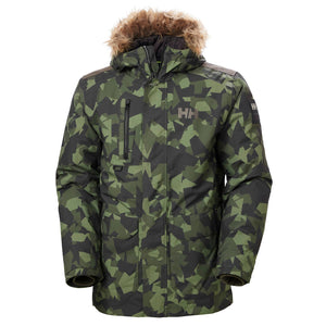 Helly Hansen Men's Svalbard Parka Jacket in Beluga Camo from the front