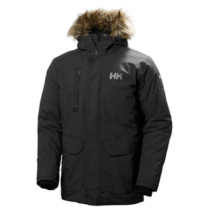 Helly Hansen Men's Svalbard Parka Jacket in Black from the front