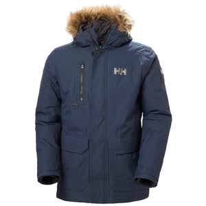 Helly Hansen Men's Svalbard Parka Jacket in Navy from the front