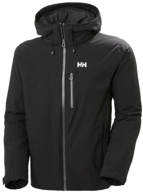 Helly Hansen Men's Swift 4.0 Ski Jacket in Black from the front
