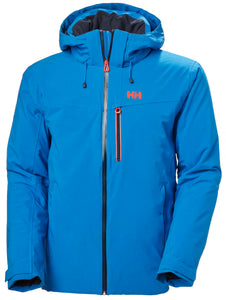 Helly Hansen Men's Swift 4.0 Ski Jacket in Electric Blue from the front