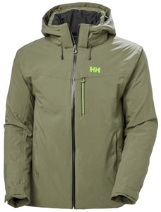 Helly Hansen Men's Swift 4.0 Ski Jacket in Lav Green from the front