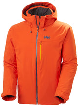 Load image into Gallery viewer, Helly Hansen Men's Swift 4.0 Ski Jacket in Patrol Orange from the front