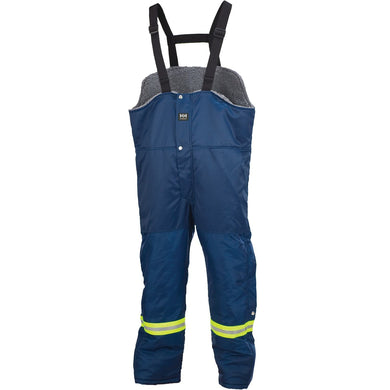 Helly Hansen Men's Thompson Insulated Bib Pant in Navy from the front
