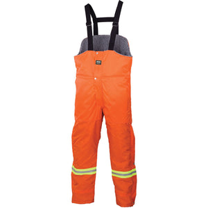 Helly Hansen Men's Thompson Insulated Bib Pant in Orange from the front