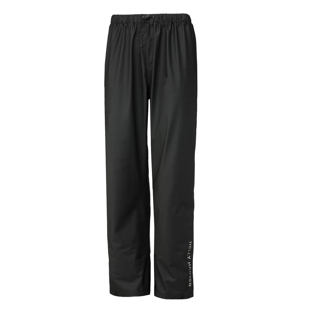 Helly Hansen Men's Voss Waterproof PU Rain Pant in Black from the front