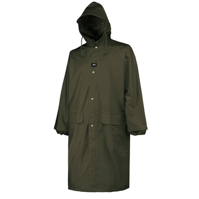 Helly Hansen Men's Woodland Rainwear Coat in Army Green from the front