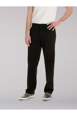 Big and Tall Extreme Comfort Khaki Pant in Black from Front View