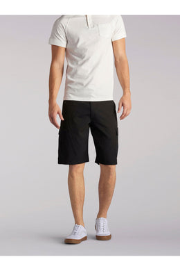 Big and Tall Performance Cargo Short in Black from Front View