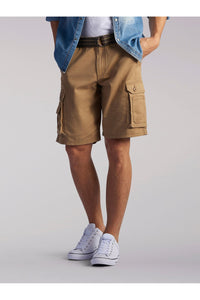 Big and Tall Wyoming Cargo Short in Bourbon from Front View