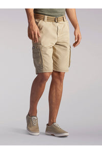 Big and Tall Wyoming Cargo Short in Buff from Front View