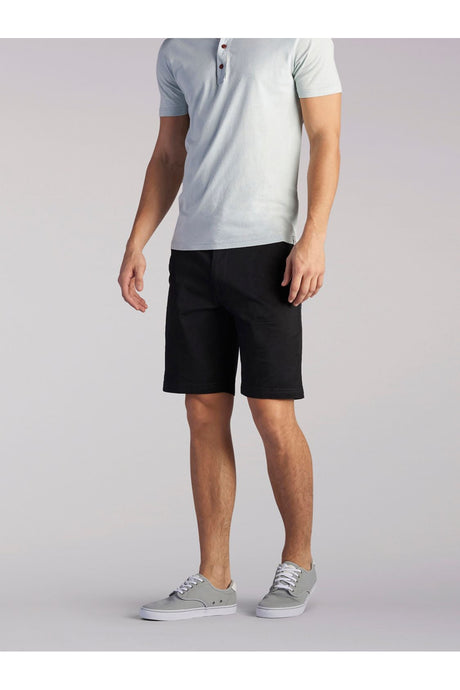 Extreme Comfort Short in Black from Front View