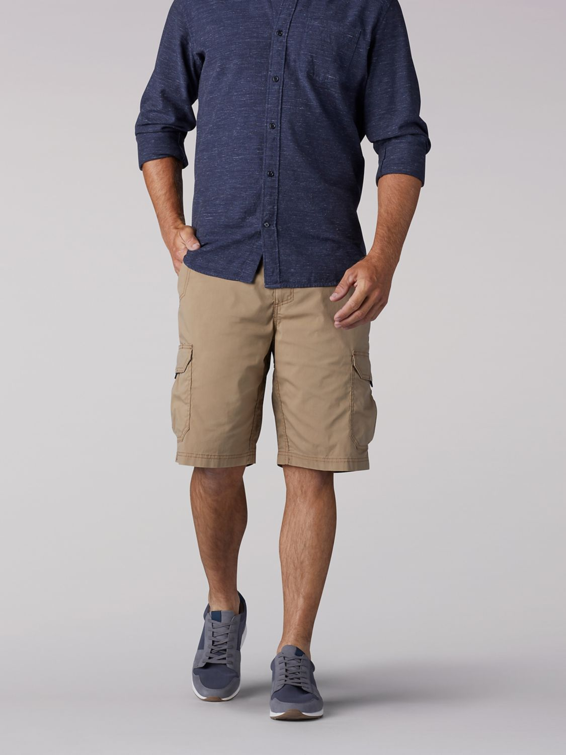 Extreme Motion Crossroad Cargo Short in Nomad from Front View