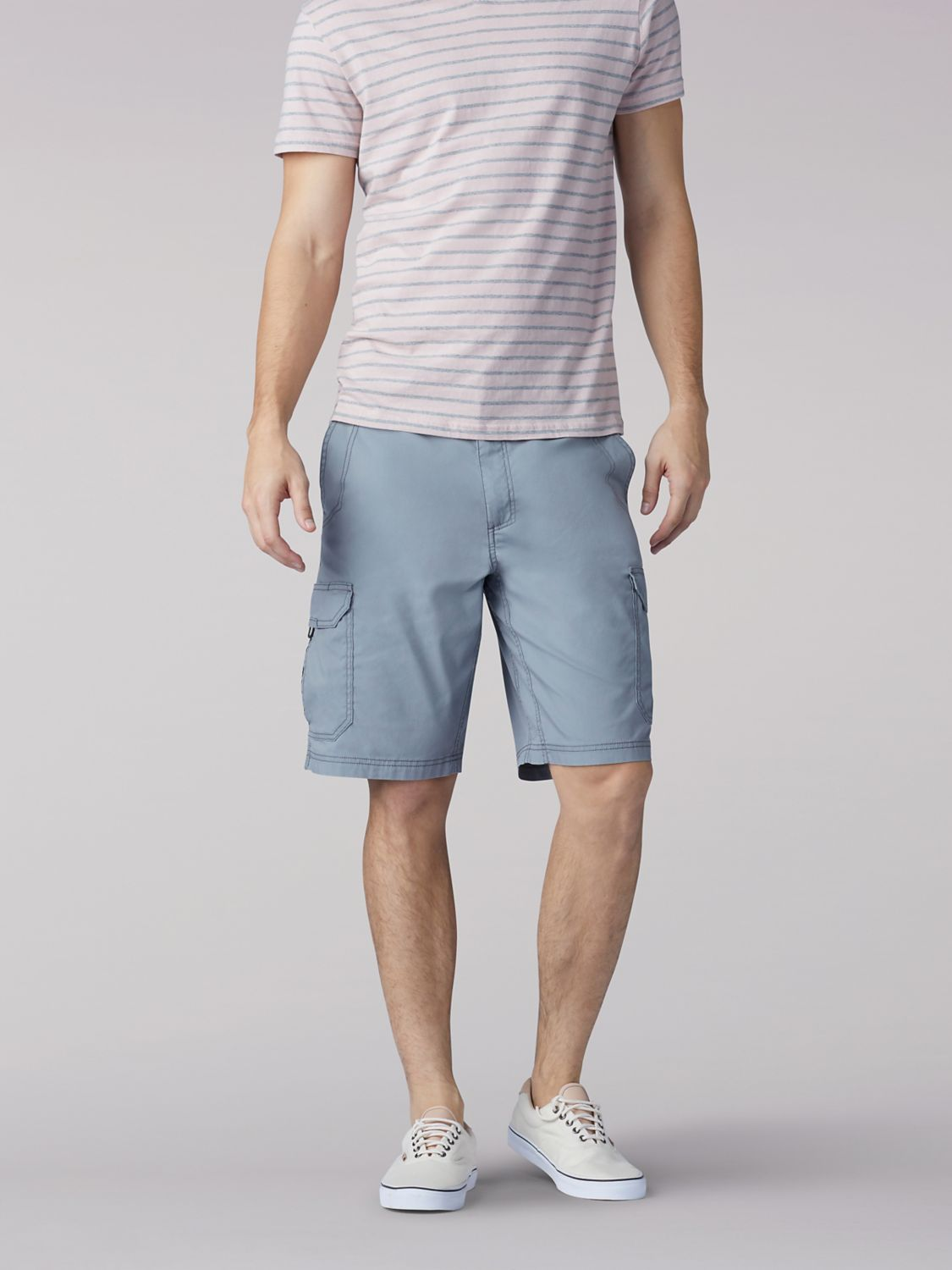 Extreme Motion Crossroad Cargo Short in Storm Grey from Front View
