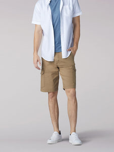 Extreme Motion Swope Cargo Short in Nomad from Front View