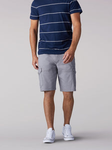 Extreme Motion Swope Cargo Short in Silver from Front View