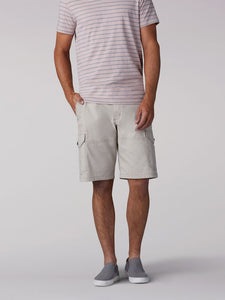 Extreme Motion Swope Cargo Short in Stone from Front View